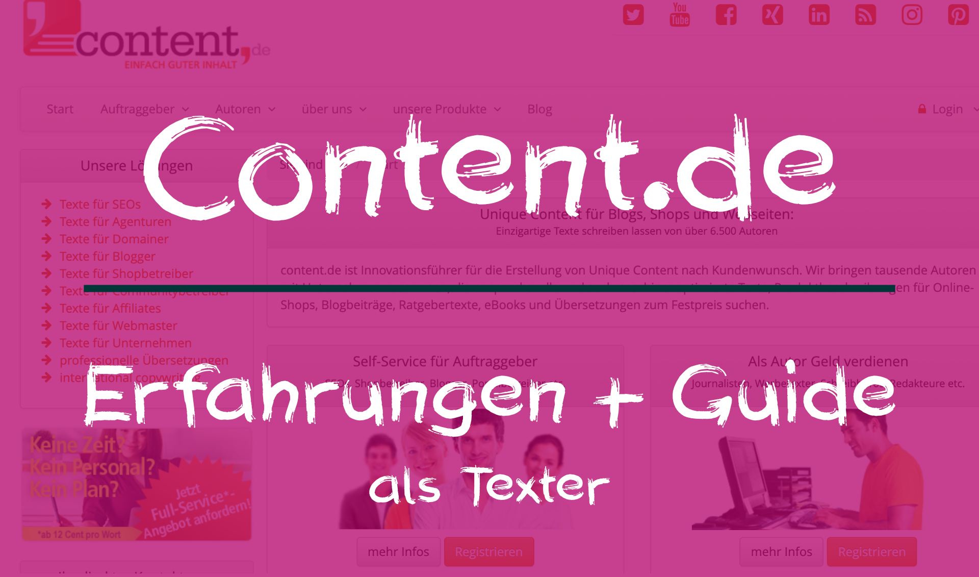 Erfahrungen mit Content.de (als Texter) + Guide